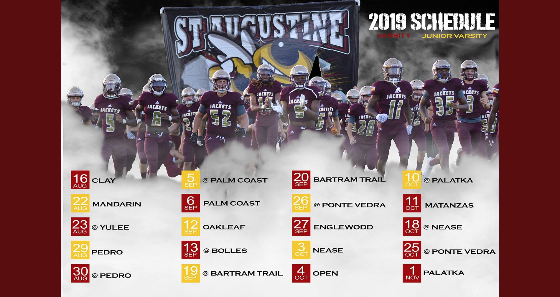 St. Augustine High School Football 2019 Game Schedule
