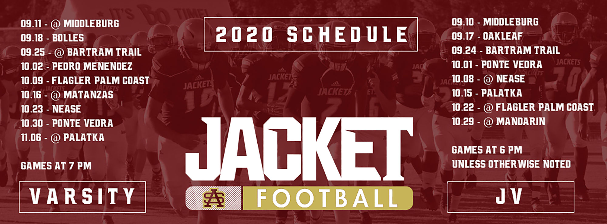 St. Augustine High School Football 2020 Game Schedule